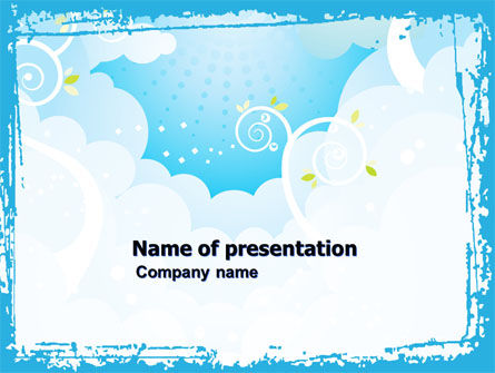 Abstract/Textures: Clouds PowerPoint Template #05085