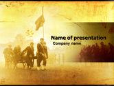Military: American Civil War PowerPoint Template #05086