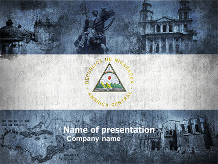 Nicaragua Free PowerPoint Template, 05087, Flags/International — PoweredTemplate.com
