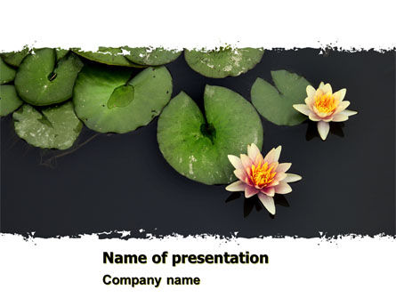 Nature & Environment: Water Lily PowerPoint Template #05090