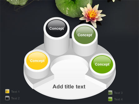 Water Lily PowerPoint Template Slide 12