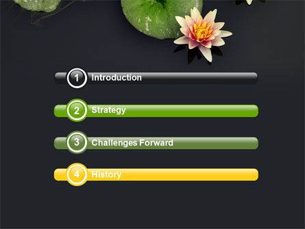 Water Lily PowerPoint Template, Slide 3, 05090, Nature & Environment — PoweredTemplate.com
