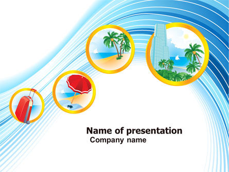 Careers/Industry: Vacation PowerPoint Template #05092