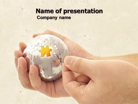 Puzzle Fixing PowerPoint Template, 05093, Business Concepts — PoweredTemplate.com