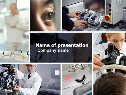 Medical: Optometry PowerPoint Template #05094