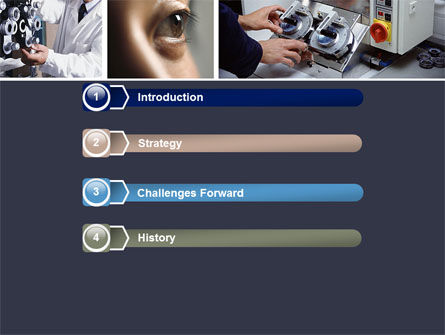 Optometry PowerPoint Template, Slide 3, 05094, Medical — PoweredTemplate.com