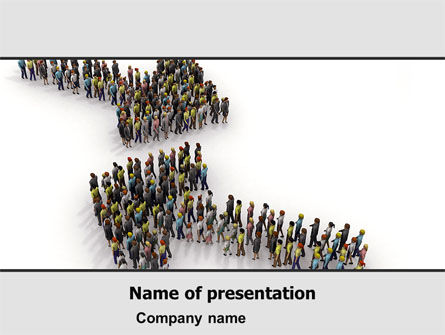 Consulting: Moving Crowd PowerPoint Template #05097