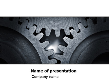 Cogwheels PowerPoint Template, 05098, Utilities/Industrial — PoweredTemplate.com