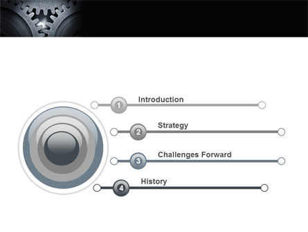 Cogwheels PowerPoint Template, Slide 3, 05098, Utilities/Industrial — PoweredTemplate.com