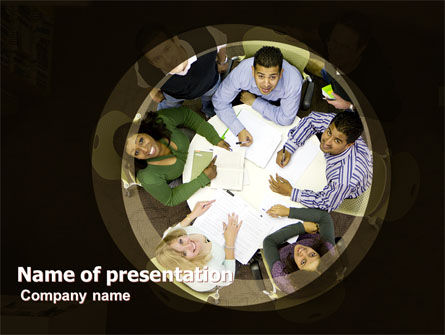Round Table Meeting PowerPoint Template