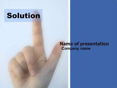 Indication Of Solution PowerPoint Template