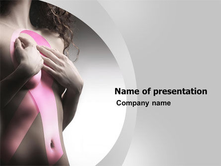 Breast Cancer Ribbon On The Naked Girl Body PowerPoint Template, 05103, Medical — PoweredTemplate.com