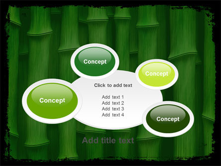 Green Bamboo PowerPoint Template Slide 16