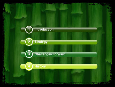 Green Bamboo PowerPoint Template Slide 3