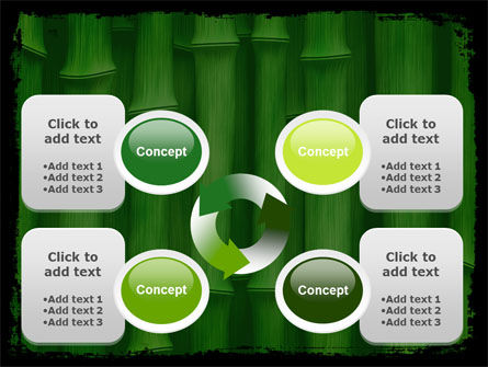 Green Bamboo PowerPoint Template Slide 9