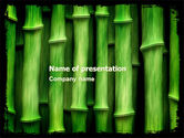 Nature & Environment: Green Bamboo PowerPoint Template #05104