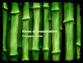 Nature & Environment: Templat PowerPoint Bambu Hijau #05104