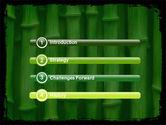 Green Bamboo PowerPoint Template#3
