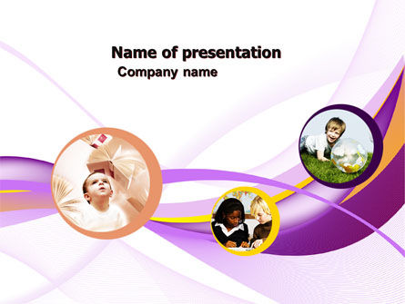 Education & Training: Child Development In Kindergarten PowerPoint Template #05105