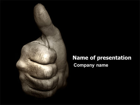 Thumbs Up PowerPoint Template, 05106, Business Concepts — PoweredTemplate.com