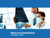 Medical: Brain Scan PowerPoint Template #05108