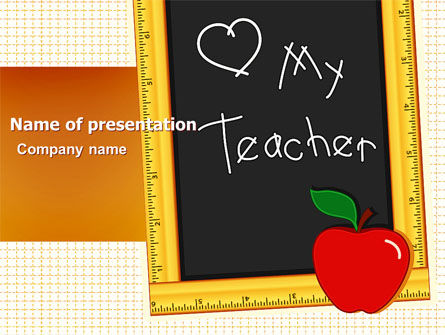I Love My Teacher PowerPoint Template, 05109, Education & Training — PoweredTemplate.com