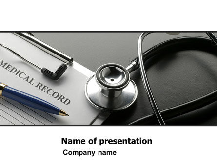 Medical Record Blank PowerPoint Template, 05110, Medical — PoweredTemplate.com