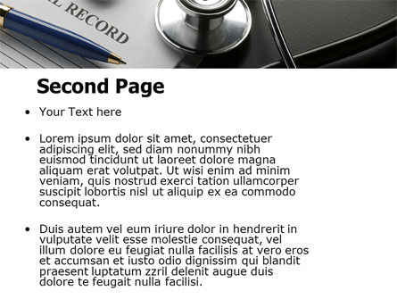 Medical Record Blank PowerPoint Template, Slide 2, 05110, Medical — PoweredTemplate.com