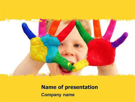 People: Colored Lines PowerPoint Template #05112