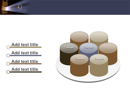 Keyhole With Light Beam PowerPoint Template Slide 12