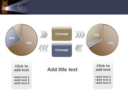 Keyhole With Light Beam PowerPoint Template Slide 16