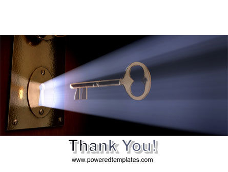 Keyhole With Light Beam PowerPoint Template Slide 20