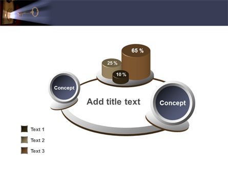 Keyhole With Light Beam PowerPoint Template Slide 6