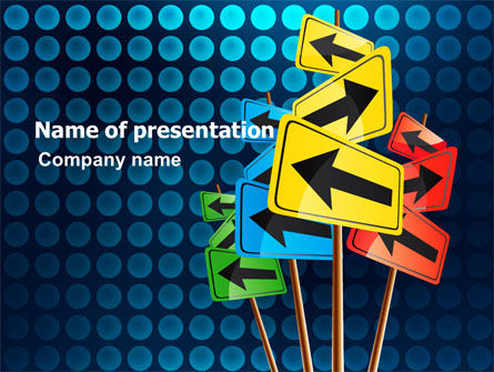 Various Directions PowerPoint Template, 05114, Business Concepts — PoweredTemplate.com