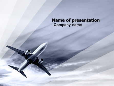 Cars and Transportation: Air Vessel PowerPoint Template #05115