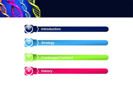DNA Spirals PowerPoint Template, Slide 3, 05117, Medical — PoweredTemplate.com