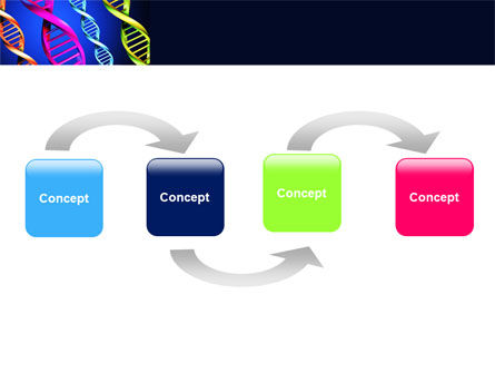 DNA Spirals PowerPoint Template, Slide 4, 05117, Medical — PoweredTemplate.com
