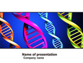 Medical: DNA Spirals PowerPoint Template #05117