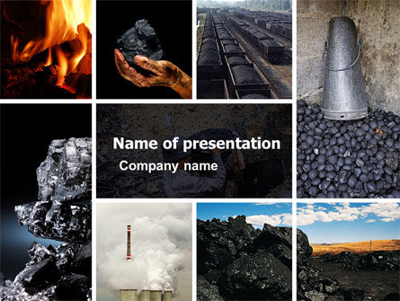 Coal PowerPoint Template, 05121, Utilities/Industrial — PoweredTemplate.com