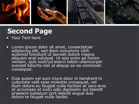 Coal PowerPoint Template, Slide 2, 05121, Utilities/Industrial — PoweredTemplate.com