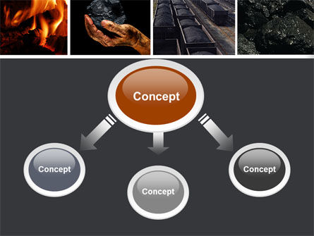 Coal PowerPoint Template, Slide 4, 05121, Utilities/Industrial — PoweredTemplate.com