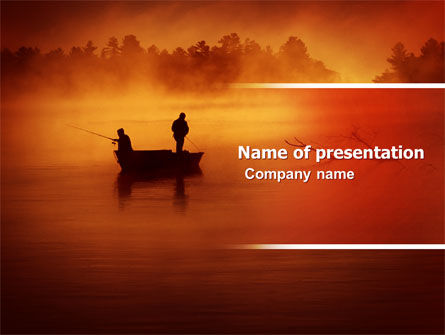 Recreational Fishing PowerPoint Template, 05122, Nature & Environment — PoweredTemplate.com