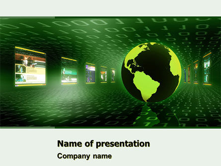 Web Presence PowerPoint Template, 05124, Technology and Science — PoweredTemplate.com