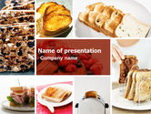 Food & Beverage: Toast PowerPoint Template #05125