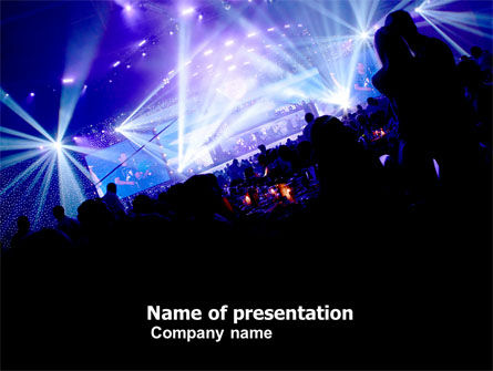 Music Show PowerPoint Template, 05126, Art & Entertainment — PoweredTemplate.com