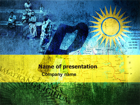 Rwanda PowerPoint Template, 05127, Flags/International — PoweredTemplate.com