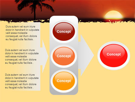 Tropical Sunset PowerPoint Template Slide 11