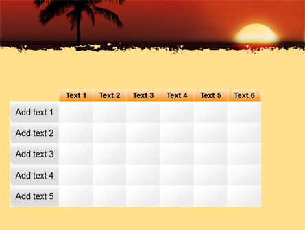 Tropical Sunset PowerPoint Template Slide 15