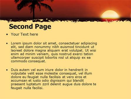 Tropical Sunset PowerPoint Template, Slide 2, 05128, Nature & Environment — PoweredTemplate.com