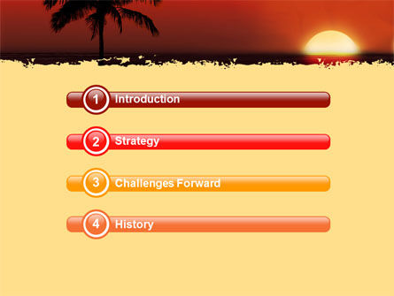 Tropical Sunset PowerPoint Template Slide 3